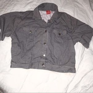 Plaid collared button up